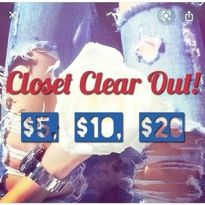 Closet Clear Out! Most items $5, $10 & $20